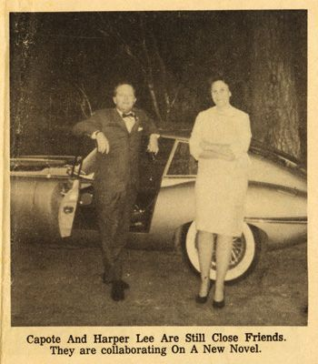 Picture from when Truman Capote & Harper Lee were researching Capote's novel In Cold Blood