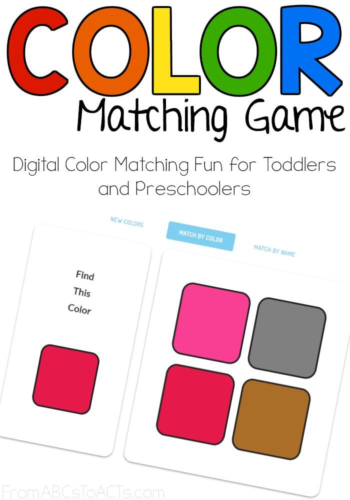 Online Color Matching Game For Kids Matching Games For Toddlers Online Games For Kids Kids Online Learning