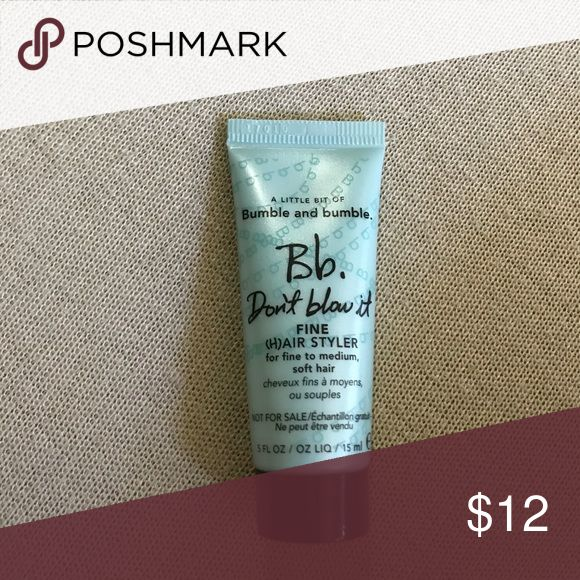Mini Bumble and Bumble fine hair styler Mini Bumble and Bumble fine hair styler for fine to medium soft hair. 15 mL bumble and bumble Other