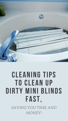 Cleaning Tips To Clean Up Dirty Mini Blinds Fast, Saving You Time And Money!