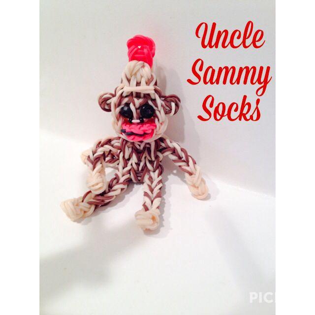 Sock monkey rainbow loom original design