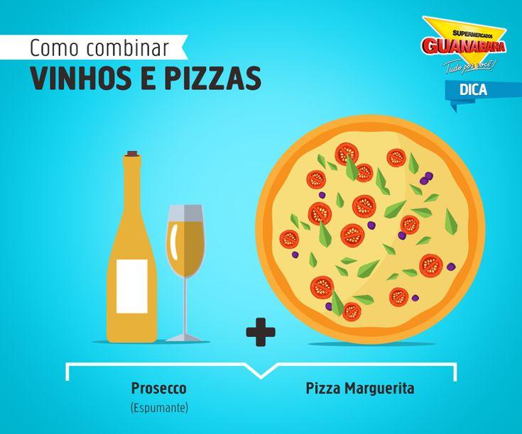 Prosecco + Pizza Marguerita — Supermercados Guanabara