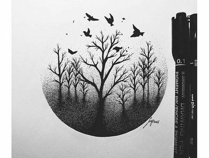 Les 25 meilleures id es de la cat gorie comment dessiner un arbre sur pinterest dessiner un - Arbre dessiner ...