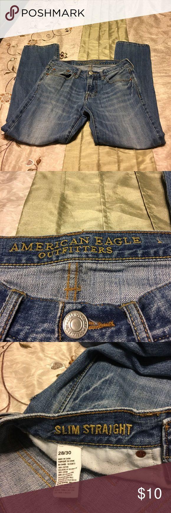 Men's American Eagle Jeans Men's American Eagle Jeans. Great condition. Slim Straight 28/30 American Eagle Outfitters Jeans Slim Straight