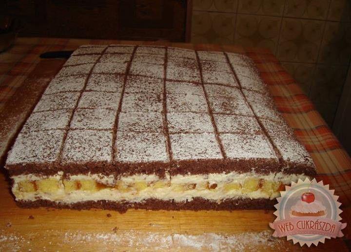 JUGOSZLÁV KRÉMES • Gyönyörű szép, kiadós és nagyon-nagyon finom sütemény! A kakaós lapok között finom vaníliás krém,...