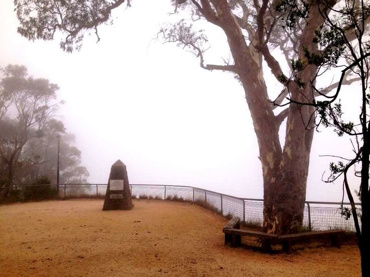 It's a white-out. Nothing to see here. Govetts Leap, Blackheath NSW