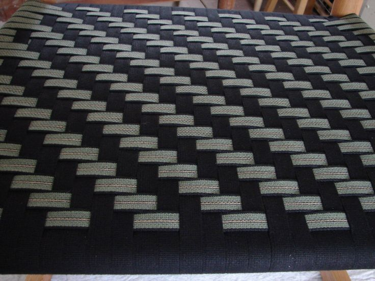 Herringbone in black and black/olive/beige stripe