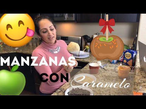 como hacer manzanas cubiertas de caramelo y chocolate - YouTube