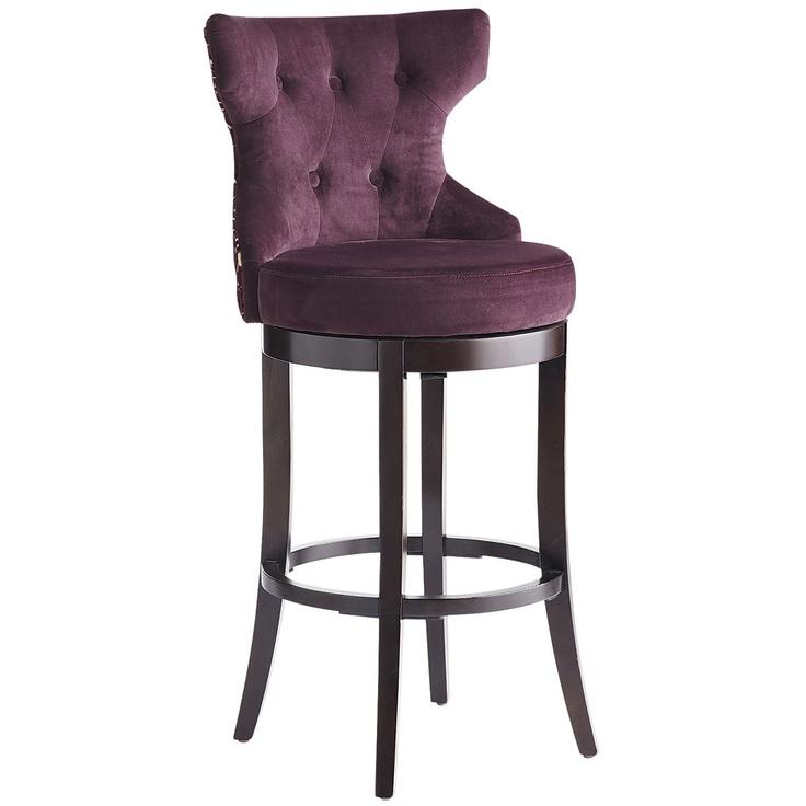 Bar Stools Hourglass Swivel Barstool Purple Damask