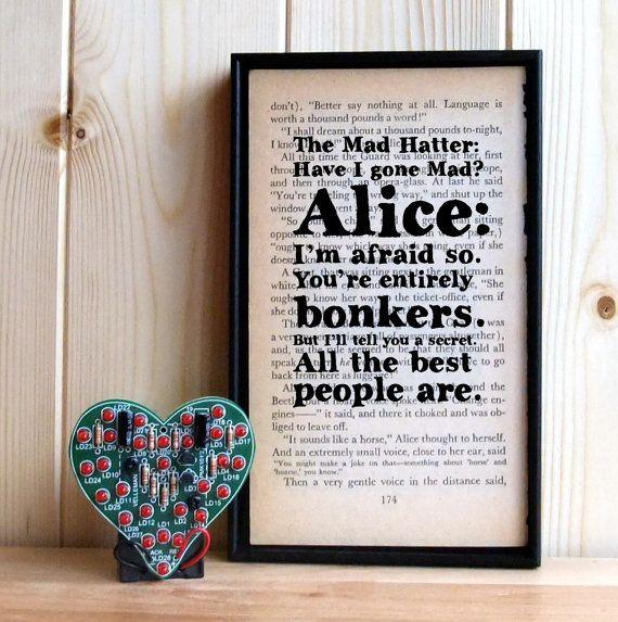 Have I Gone Mad Alice in Wonderland Mad Hatter by BookishlyUK, £24.75