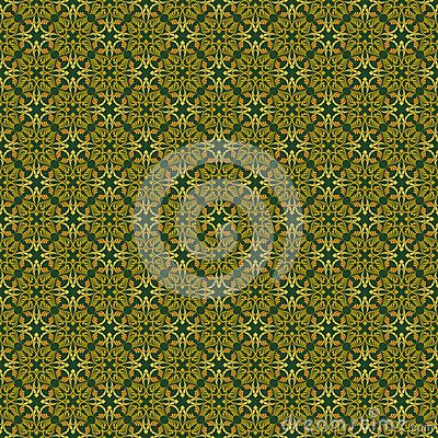 Seamless pattern with oriental arabesques