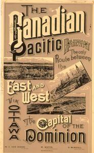 Affiche du Canadien Pacifique, 1887