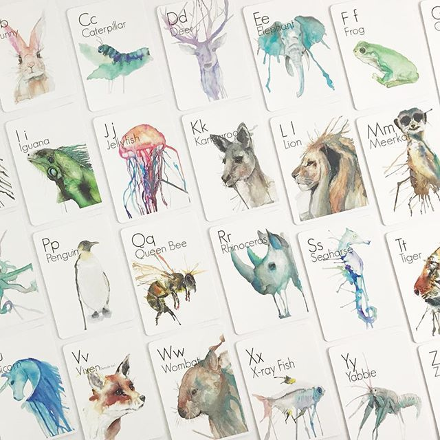 A B C D.... what better way to learn your ABCs letter recognition and beginning sounds than with these gorgeous hand-illustrated Animal Alphabet Flash Cards  . Proudly designed and printed in Australia on certified sustainable cardstock  . The perfect educational tool for little learners that double as stunning decor pieces for your little ones room. . Available online with $7 flat rate Australia-wide express shipping.