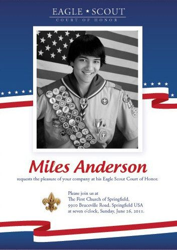 68 best Scouts Eagle Scout Invitations images on Pinterest