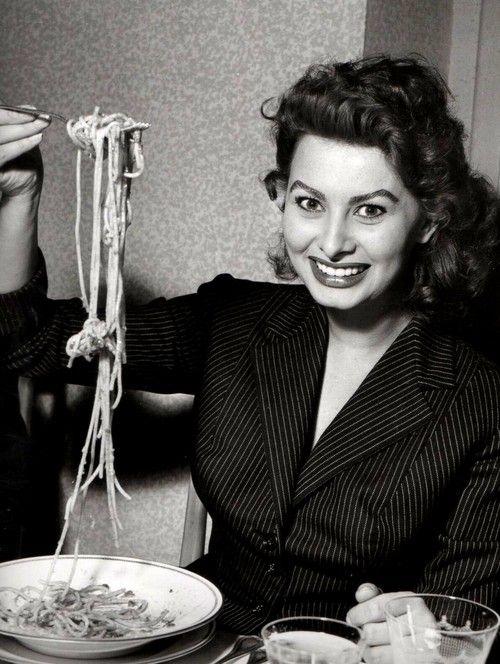 lapetitemariniere:  Everything you see I owe to spaghetti. -Sophia Loren
