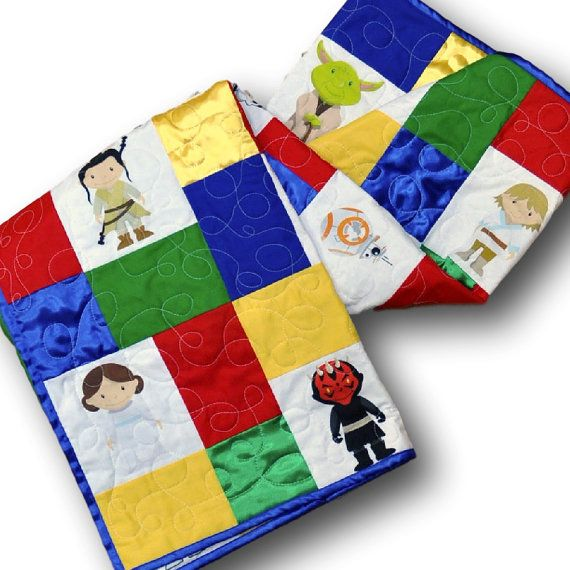 Handmade Star Wars baby quilt-- totally one of a kind, made to order in your colors!