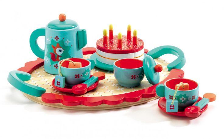 Drewniany zestaw Djeco - Przyjęcie Urodzinowe