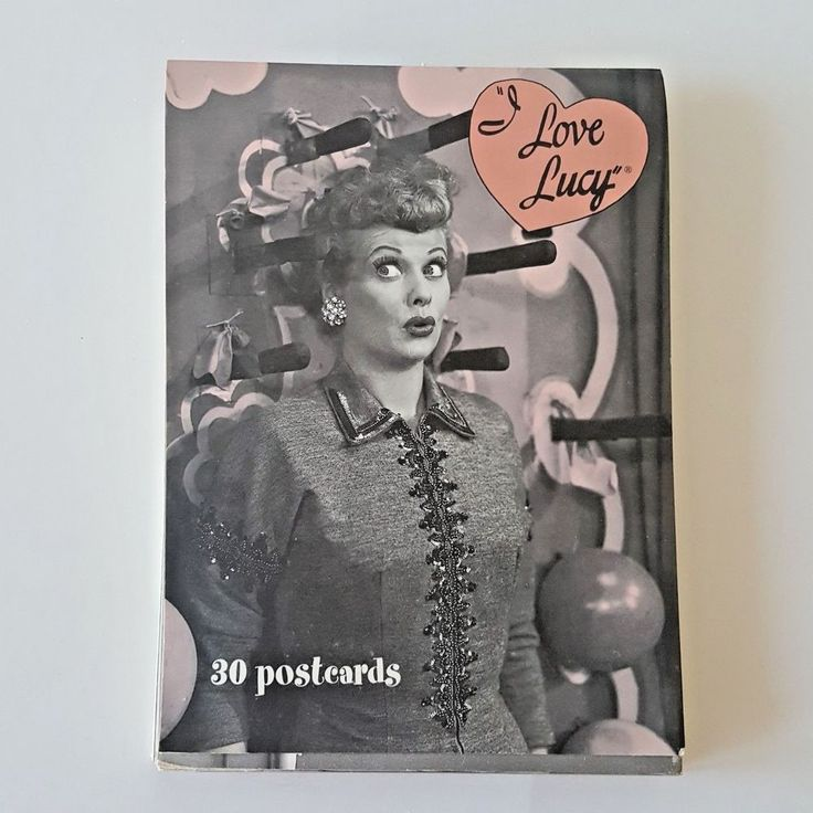 i love lucy book of 30 postcards blank collectors cards