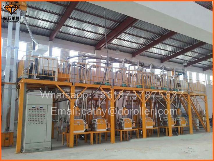 30 ton wheat flour milling line for Zambia