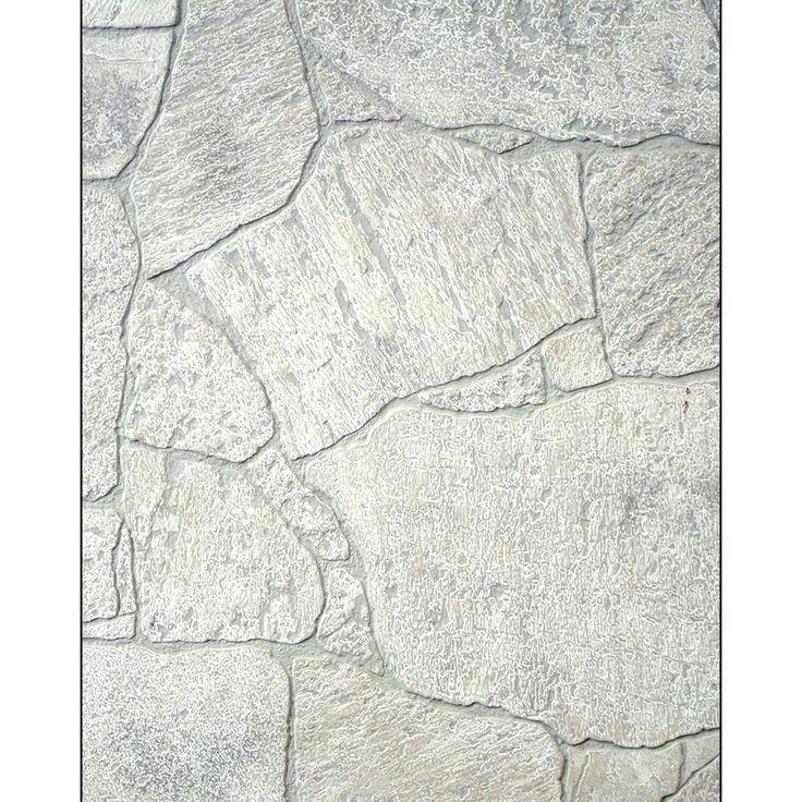 Shop Fashionwall 1 4 In X 4 Ft X 8 Ft White Stone