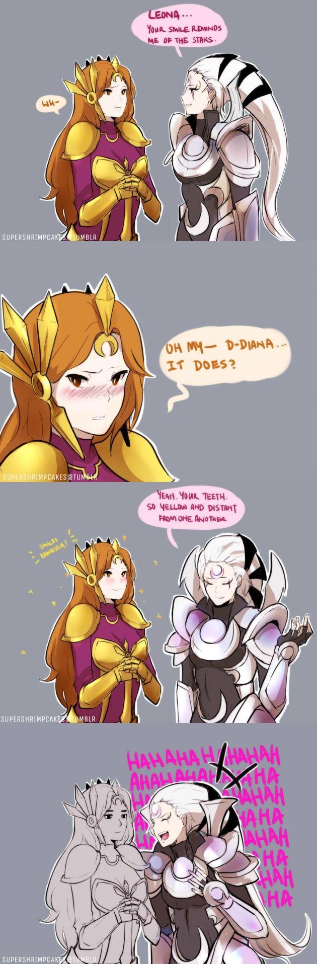 Leona with Diana