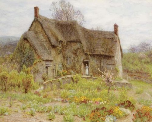 Allingham-Helen-Old-Dorset-Cottage-Canvas-16-x-20-8924