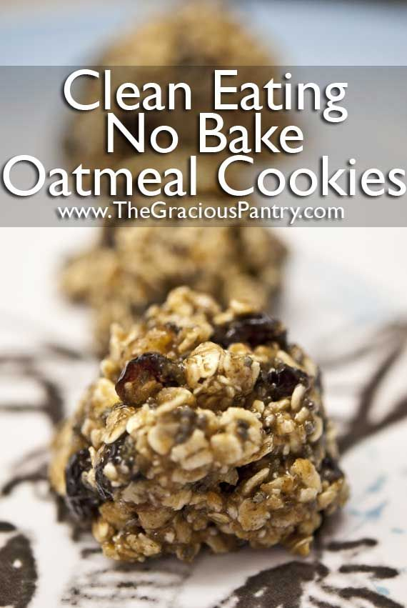 Clean Eating Recipes -- chocolate peanut butter no bake cookies
