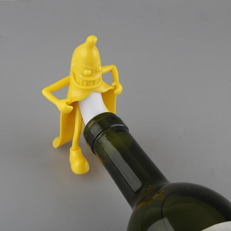 #Wine #Gift Mr.Banana Creative Soda Wine Bottle Novelty Stopper Corkscrews Bar Tool Wine Beer Bottle Cork Stopper Bar Novely Gift  Material:ABS silica gel Size:7610cm Shape:Banana Color:Yellow Type:Bar ToolsDiameter:<5cm    Shipping Terms  Our Item are free shipping to USAEU Asia and so on. The cust... #Food #Party