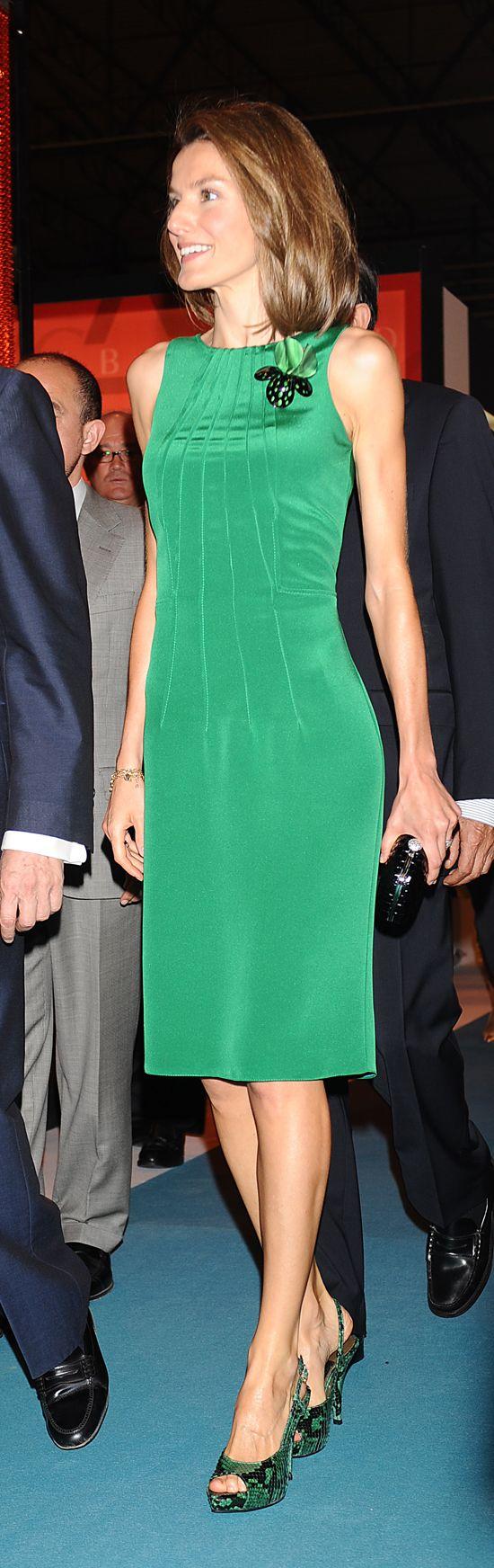 verde ,el vestido es divno los zapatos fabulosos ,no tires nada de reptil