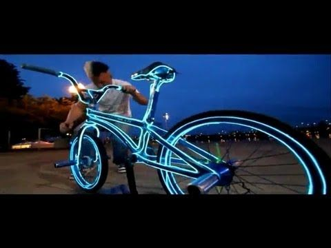 Fil électroluminescent Vélo - YouTube