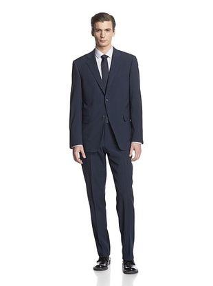 -26,900% OFF Cerruti 1881 Men's Drop 7 Classic Fit Suit (Blue Houndstooth)