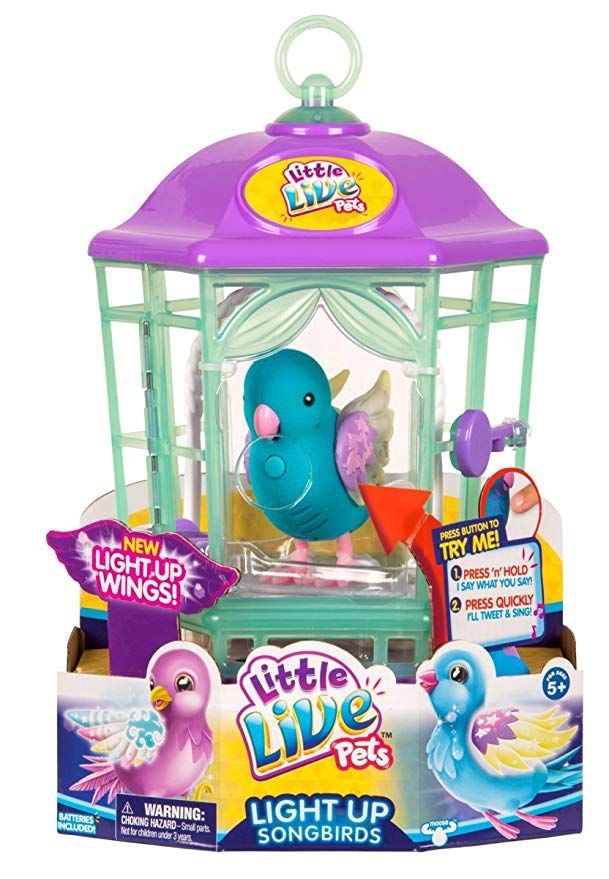 Amazon Com Little Live Pets Bird With Cage Twinkle Tweets Childrens Toy Toys Games Little Live Pets Pet Bird Cage Pet Bird