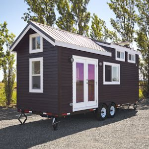 The NW Haven by Tiny Heirloom of Portland Oregon. A 187 sq ft tiny home with a loft bedroom and fully outfitted with appliances.