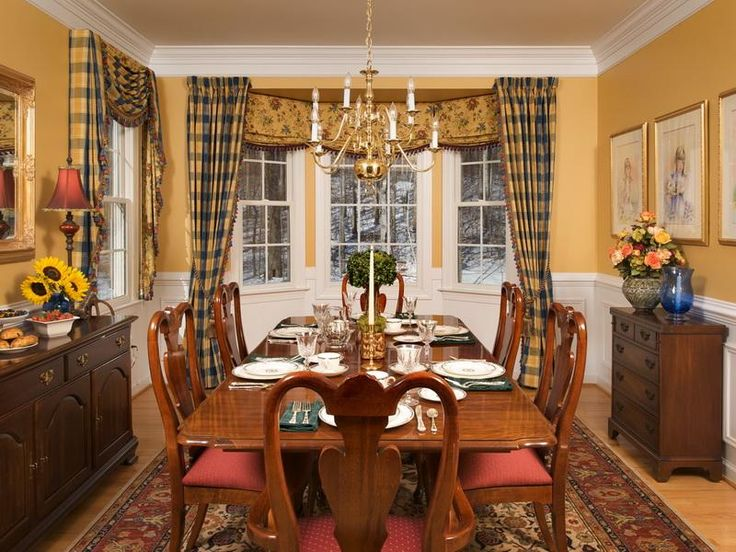 Dining Room Window Ideas Picture Bay Treatment With Various And Styles Curtains At Rooms