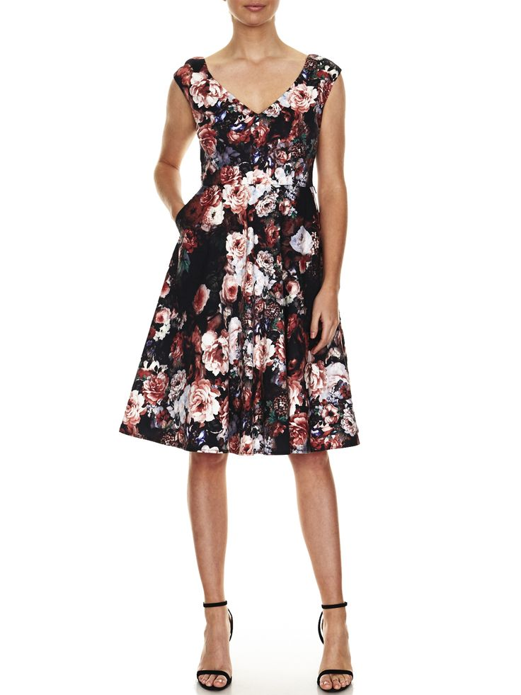 Sabrina Floral Print Dress   Evening Dresses, Formal Dresses, Cocktail Dresses, Bridemaid dresses and Mother of the Bride at Will Hope Love