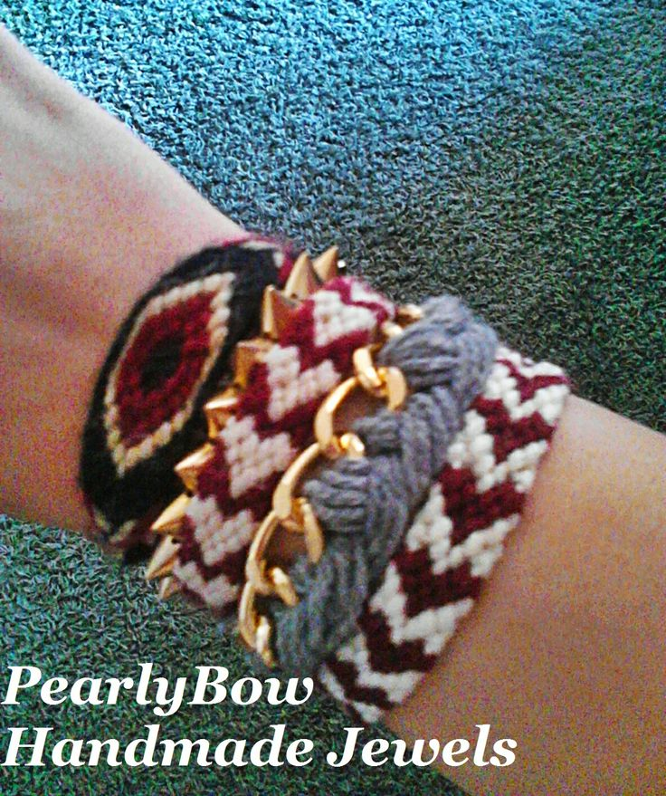bracelets, hearts, macrame, pearlybow, visit our page https://www.facebook.com/pages/PearlyBow/124991664282063?ref=hl