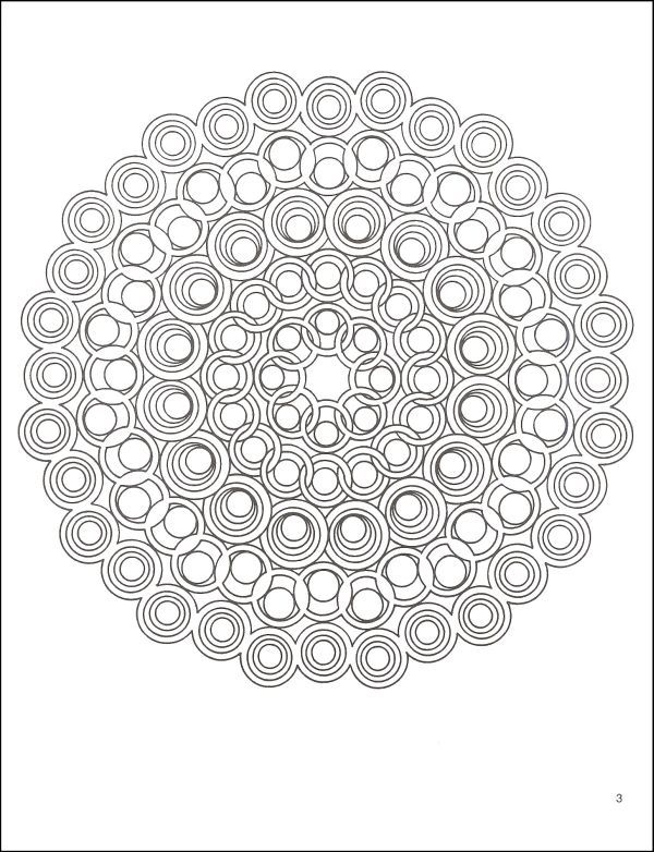3-D Geometric Designs Coloring Book | Additional photo (inside page)