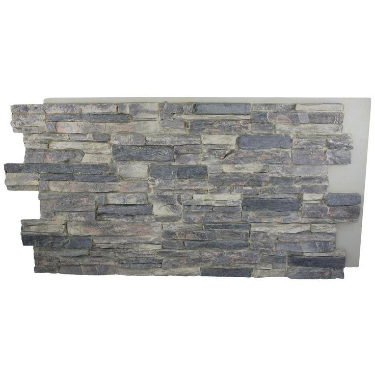 Superior Building Supplies Cliff Grey 24 in. x 48 in. x 1-1/4 in. Faux Grand Heritage Stack Stone Panel - HD-COL2448-CG at The Home Depot