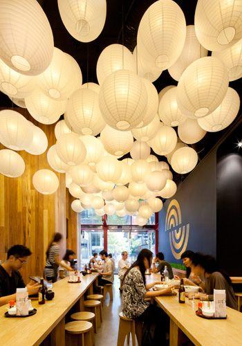 Ramen Ya, Restaurant Fit-out, The Paramount, Bourke Street, Melbourne, Australia. Interior by Matt Gibson Architecture + Design. Photo: Christine Francis