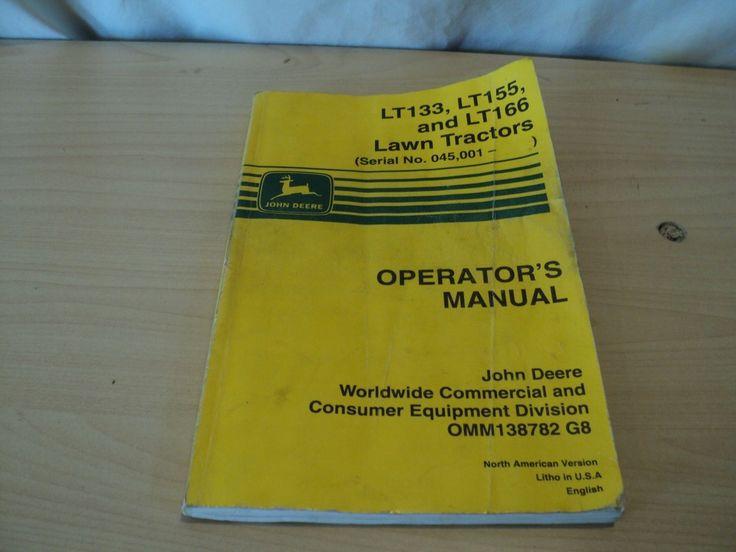 John Deere LT133 LT155 & LT166 Lawn Tractor Owner Operator Manual OMM138782