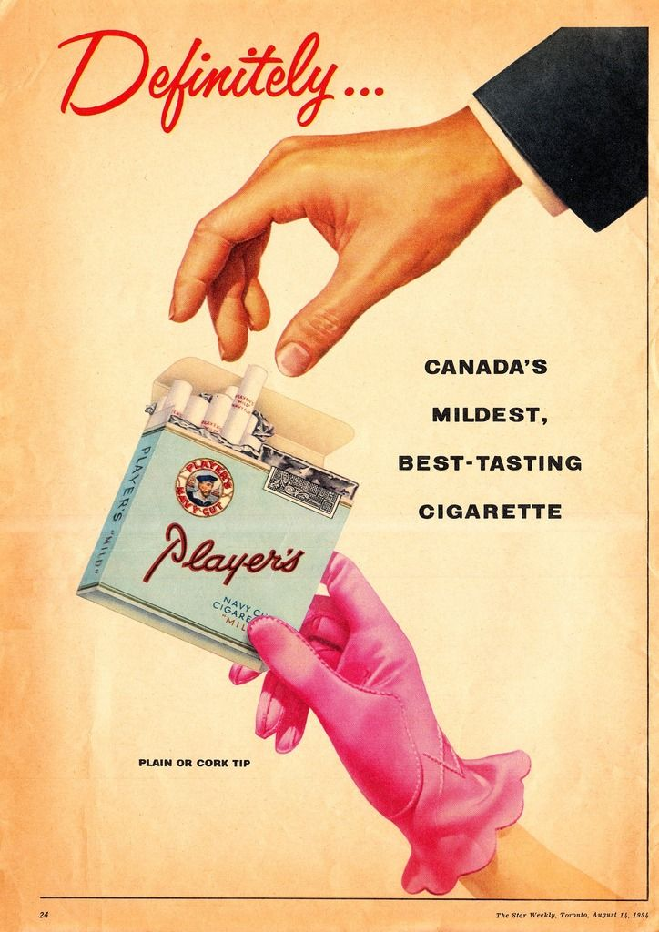 Player's Cigarettes, 1954