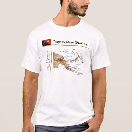 Papua New Guinea Map + Flag + Title T-Shirt - tap to personalize and get yours