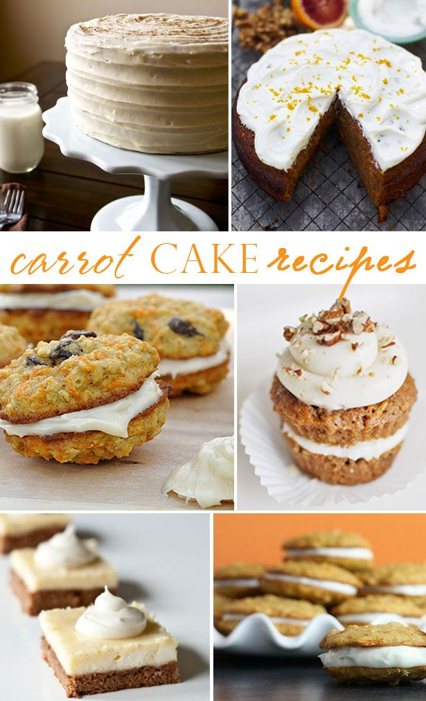 Love this roundup of carrot cake recipes from @thecelebshoppe