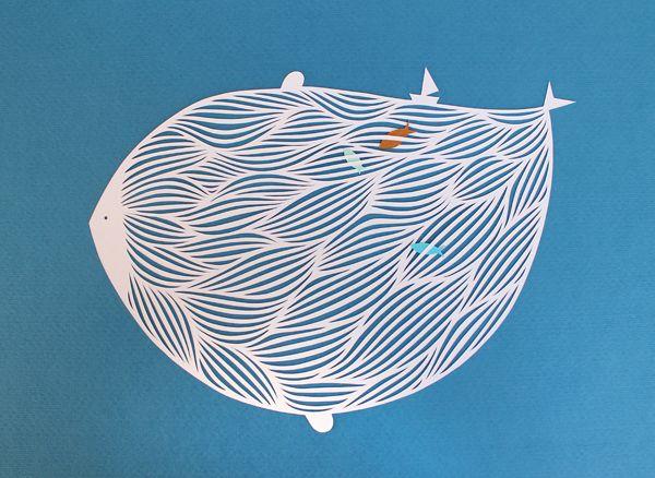giochi di carta: Onde Waves (papercut)