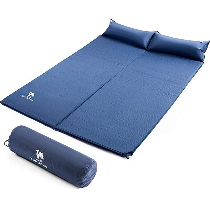 Lightweight and Comfortable Foam Sleeping Pad Active Era Self-Inflating Camping Pad with Pillow and Air Pockets