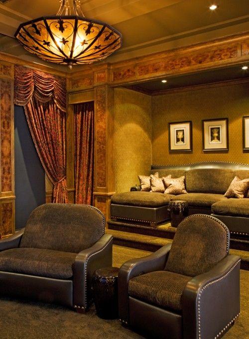 Luxurious media room