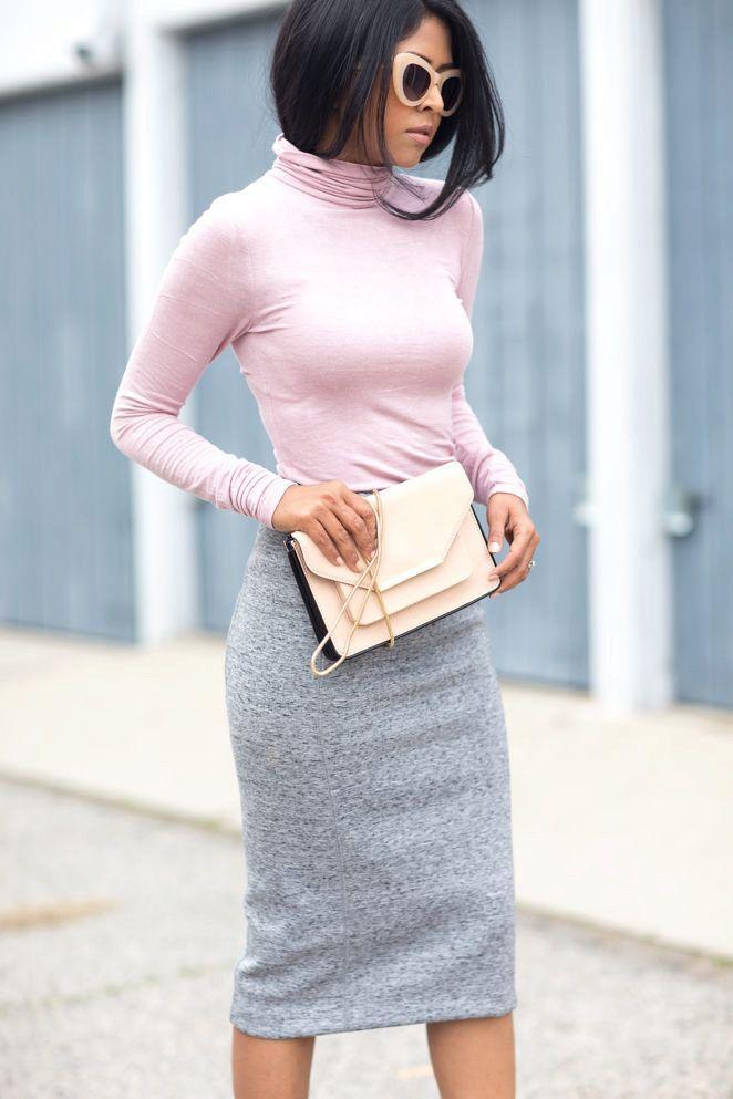 Трикотажные юбки (80 фото): с чем носить, карандаш, длинная и короткая, на резинке, серые, черные, белые