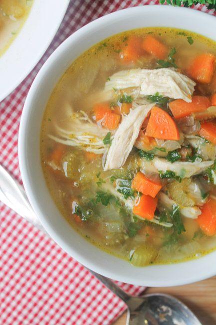 Healthy Chicken Quinoa Soup!