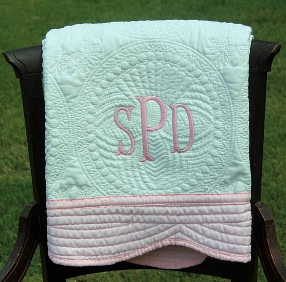 20 best baby girl gifts images on pinterest baby girl gifts white and pink baby quilt monogrammed baby quilt monogrammed baby girl giftsbaby negle Images