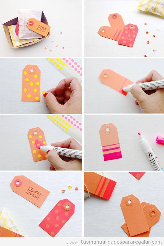 Manualidades f ciles etiquetas diy para regalos regalos for Regalos originales de manualidades